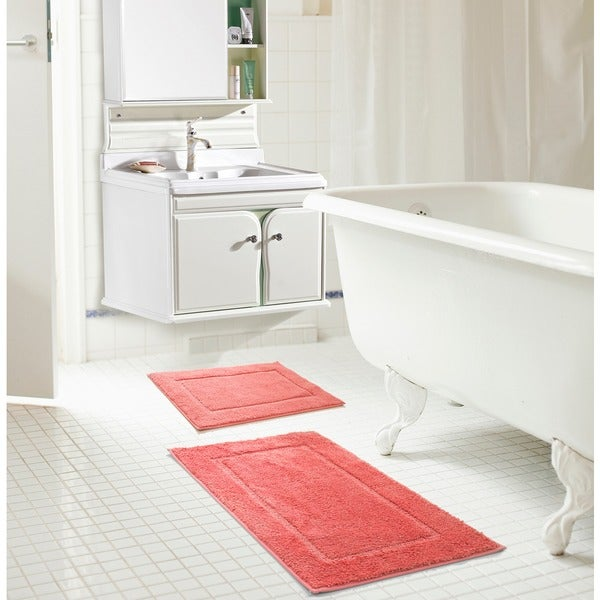 RT Designers Collection Derby Microfiber 2-Piece Bath Mat Set
