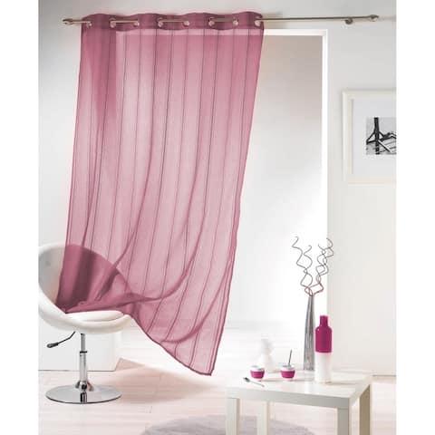 Evideco Striped Sheer Curtain Panel Grommet Mirano - 55 x 95