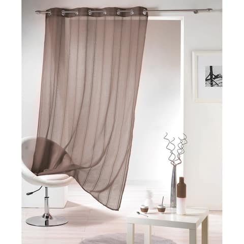 Evideco Striped Sheer Curtain Panel Grommet Mirano - 55 x 95 - 55 x 95