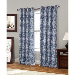 RT Designer Collection Spade Printed 84-inch Blackout Grommet Curtain Panel