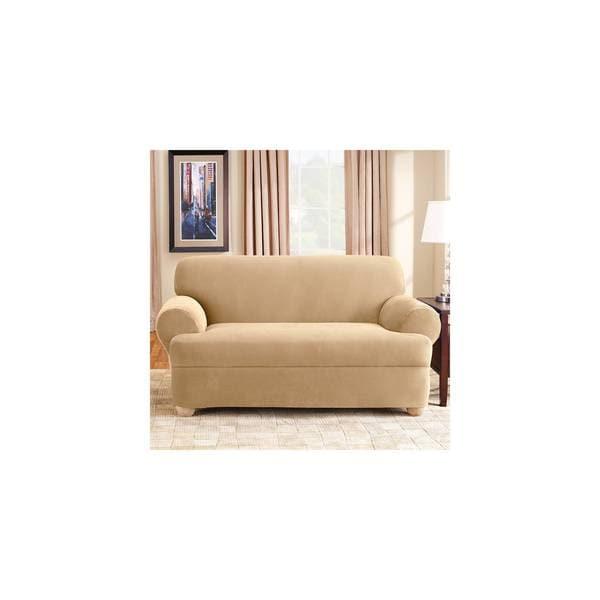 Shop Sure Fit Stretch Pique Universal T Cushion Sofa Slipcover