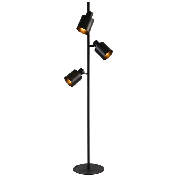 Renwil Pegg Matte Black Floor Lamp