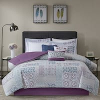 Madison Park Alexandra Berry 9-piece Cotton Percale Printed Comforter Set
