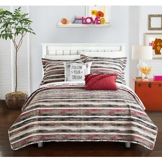 Chic Home Kammi Brick Reversible 5-Piece Quilt Set