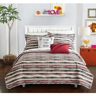 Chic Home Kammi Brick Reversible 5-Piece Quilt Set (2 options available)