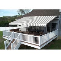 Aleko 12'x10' Retractable Outdoor Patio Awning Deck Sunshade