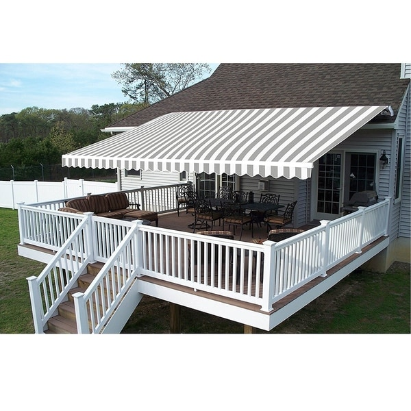 Shop Aleko 13x10 Feet Retractable Outdoor Patio Awning Deck Sunshade