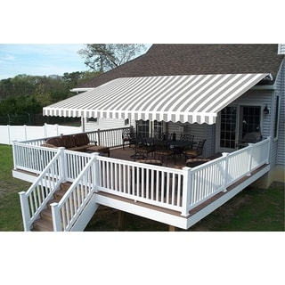 ALEKO 13x10 Feet Retractable Outdoor Patio Awning Deck Sunshade - 13 x 10 ft