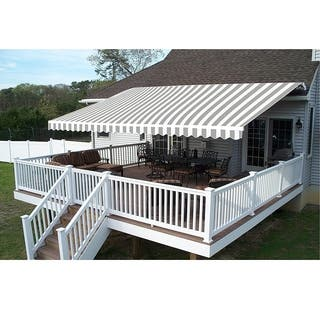 ALEKO 13x10 Feet Retractable Outdoor Patio Awning Deck Sunshade - 13 x 10 ft