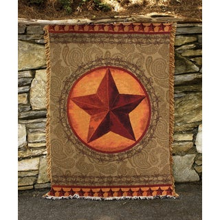 Manual Woodworkers Western Star Multi Color Tapestry Throw