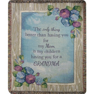Manual Woodworkers The Only Thing...Grandma Multi Color Tapestry Throw