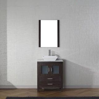 Link to Virtu USA Dior 24-inch White Marble Single Bathroom Vanity Set with Faucet Options Similar Items in Bathroom Vanities