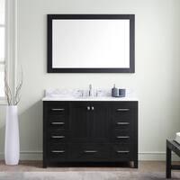 Virtu USA Caroline Premium 48-inch White Marble Single Bathroom Vanity Set