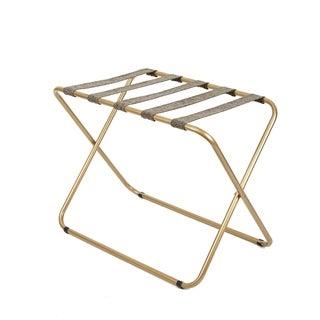 Rhys Metal Folding Luggage Rack in Gold