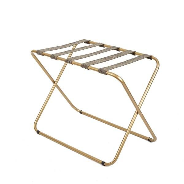 Rhys Metal Folding Luggage Rack in Gold