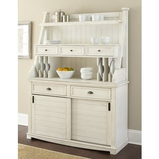 Cottonville Farmhouse Antique White Storage Buffet Hutch By Greyson Living Overstock Com Shopping The Best Deals On Buffets