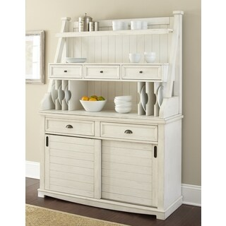 Cottonville Farmhouse Antique White Storage Buffet Hutch by Greyson Living