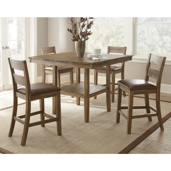 Counter Height Dining Sets On Sale: Shop Chaffee Table And 4 Counter-height Chairs Dining Set
