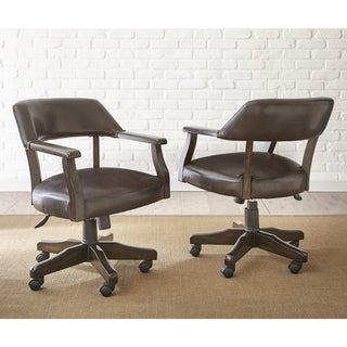 Reynolds Adjustable Captains Chair with Casters  by Greyson Living