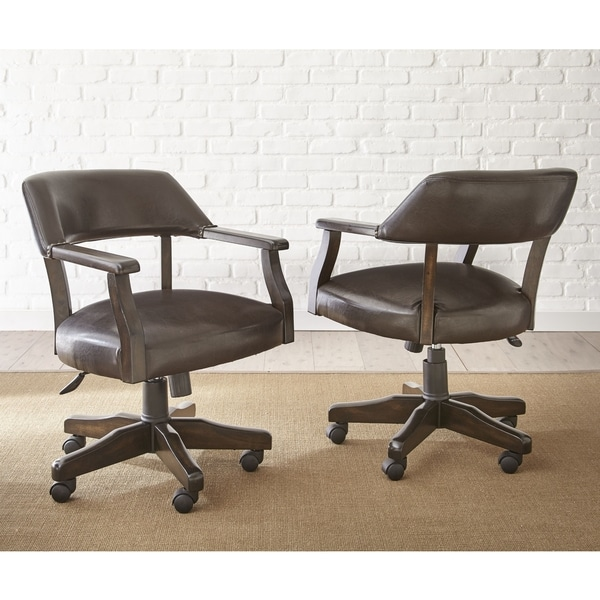 Reynolds Adjustable Captains Chair With Casters By Gre.