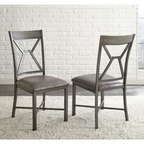 Asbury Faux Leather Dining Chair (Set of 2) by Greyson Living
