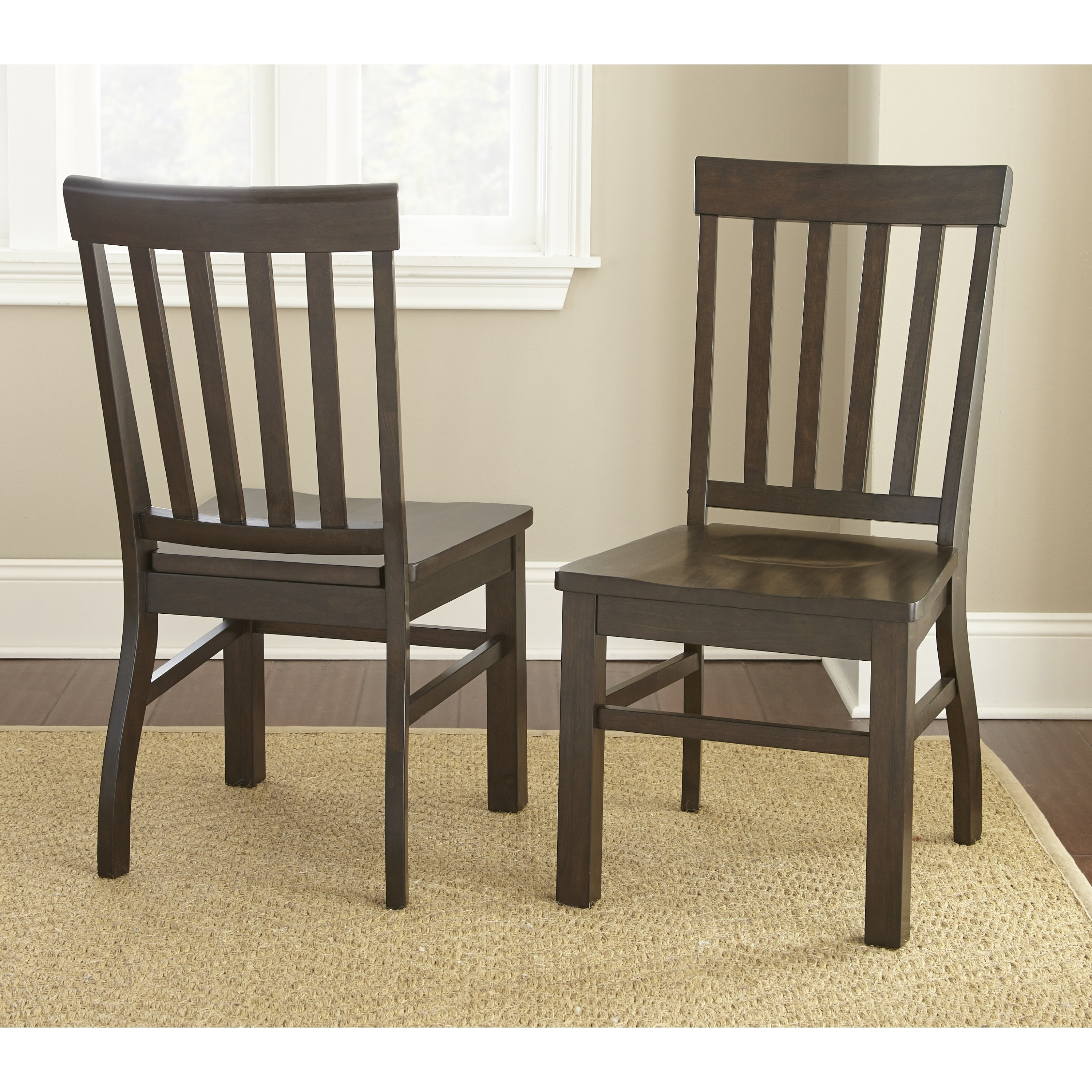 Cottonville hardwood farmhouse dining chairs set of 2