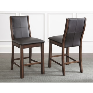 Tempe Faux Leather 24-inch Counter-height Dining Stools (Set of 2)  by Greyson Living