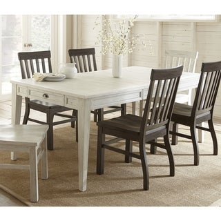 Cottonville White Wooden 80-inch Farmhouse Storage Dining Table  by Greyson Living - Antique White
