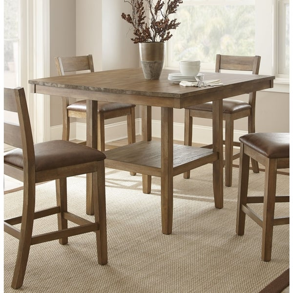48 Square Dining Room Table: Shop Chaffee 48-inch Square Counter-height Dining Table By Greyson Living