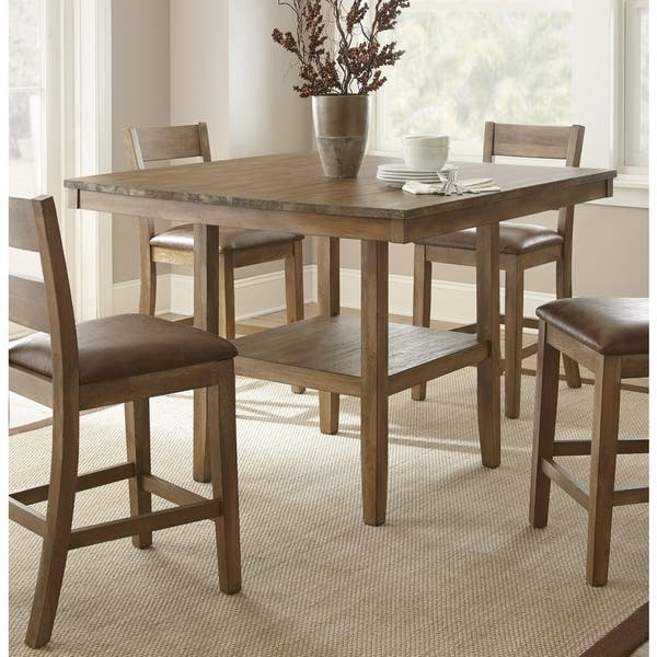 92fdee710f0e69 Chaffee 48-inch Square Counter-height Dining Table by Greyson Living. Image  Gallery