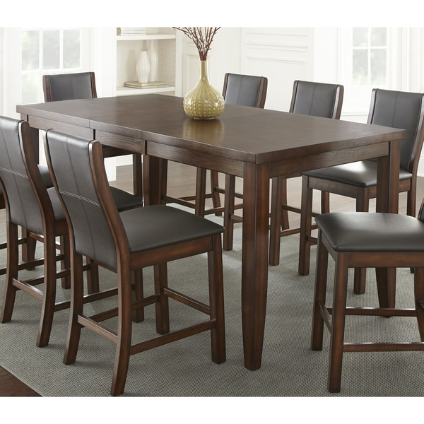 Average Dining Room Table Height: Shop Tempe Brown Wood 81-inch Counter-height Dining Table