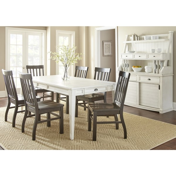 Cottonville Farmhouse Dining Set with Dark Oak Chairs by Greyson Living