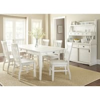Cottonville Antique White Farmhouse Dining Set With Chairs  by Greyson Living