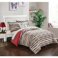 Chic Home Chona Brick Reversible 4-Piece Duvet Cover Set