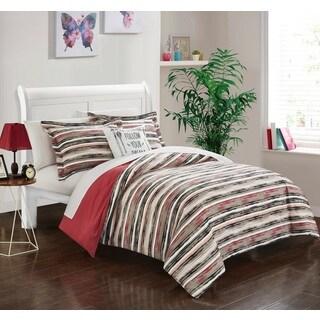 Chic Home Chona Brick Reversible 4-Piece Duvet Cover Set
