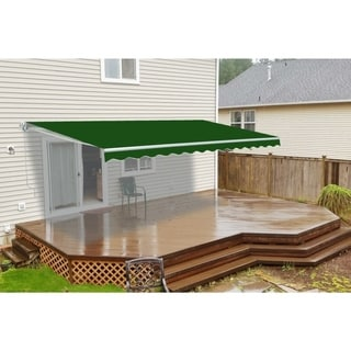 Aleko Motorized 20-foot x 10-foot Retractable Green Outdoor Patio Awning