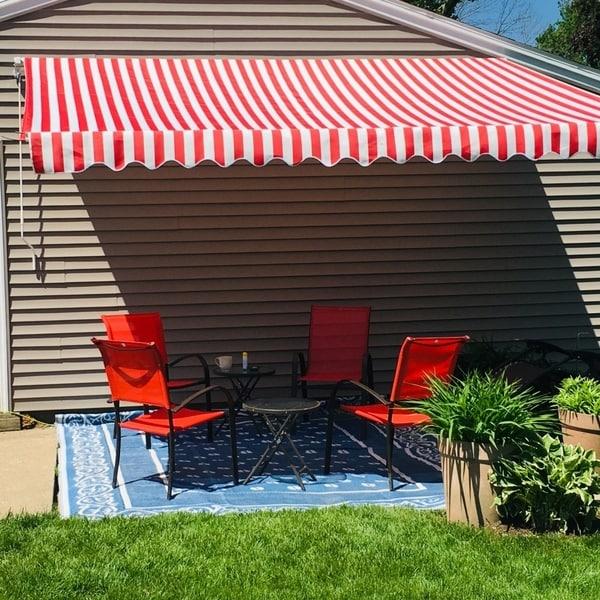 Shop ALEKO 10x8 Feet Retractable Outdoor Patio Awning Deck ...