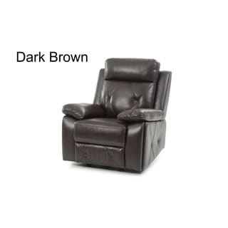 LYKE Home Contemporary Faux Leather Recliner
