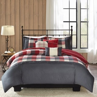 Madison Park Pioneer 6 Pieces Printed Herringbone Duvet Cover Set
