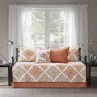 Madison Park Arista Spice 6 Pieces Printed Quilted Daybed Set