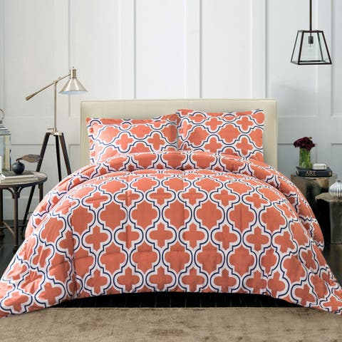 Miranda Haus All Season Down Alternative Trellis Comforter Set