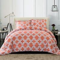 Superior All Season Down Alternative Trellis Comforter Set