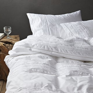 Famous Home Les Nuits White 3 Piece Duvet Cover Set