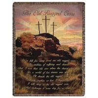 Manual Woodworkers Old Rugged Cross Multi Color Tapestry Throw