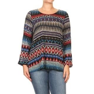 Women's Plus Size Tribal Print Tunic