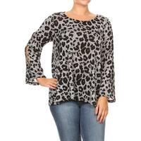 Women's Plus Size Leopard Pattern Print Tunic