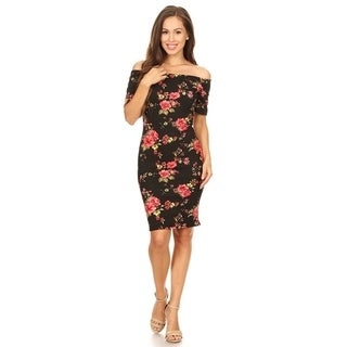 Women's Floral Pattern Bodycon Dress