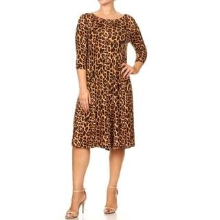 Women's Plus Size Leopard Pattern Dress (Option: 1x)