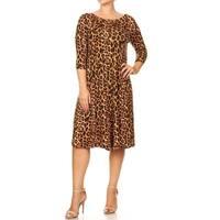 Women's Plus Size Leopard Pattern Dress