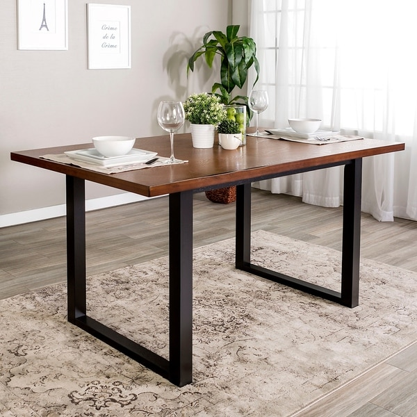 60 Two Tone Wood Dining Table X 36